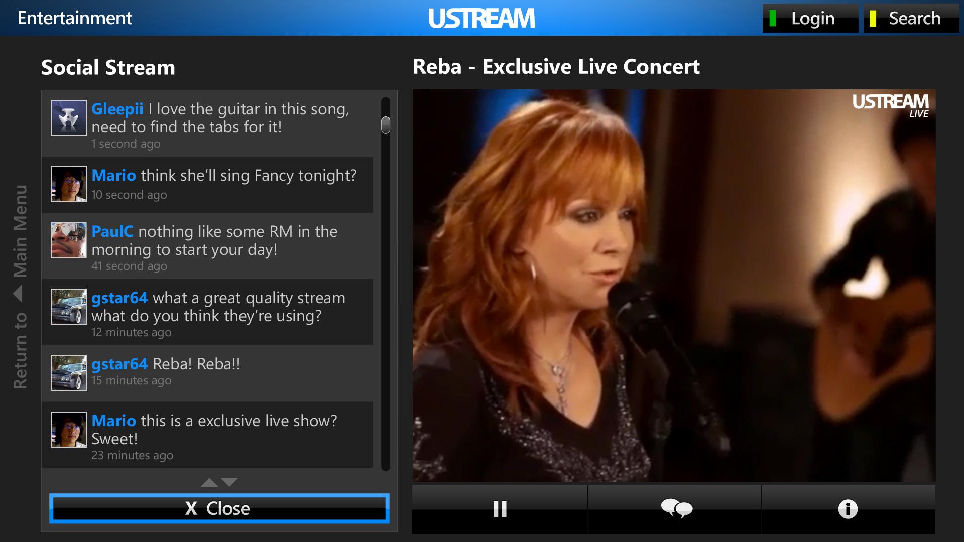 Ustream Live Streaming